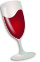 Winehq logo glass